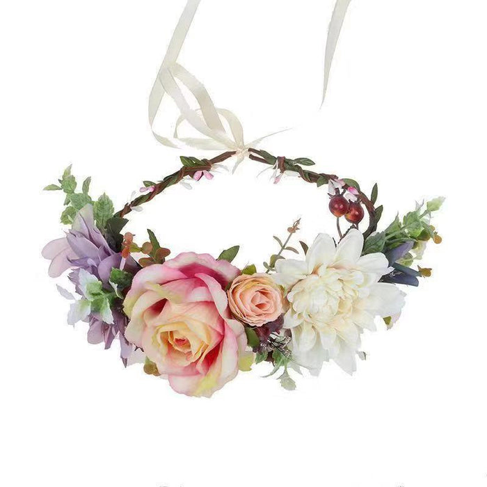 Luxe Floral Crown - Ivory Peach