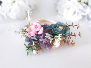 Luxe Floral Headband - Sage