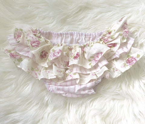 Vintage Ruffle Bloomers - Pink