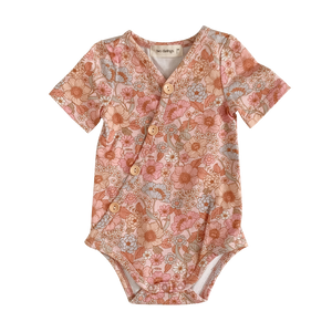 Wildflower Short Sleeve Bodysuit - PRE-SALE