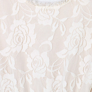 Ella Lace Tutu Dress L/S - Beige - Tutu Irresistible Boutique