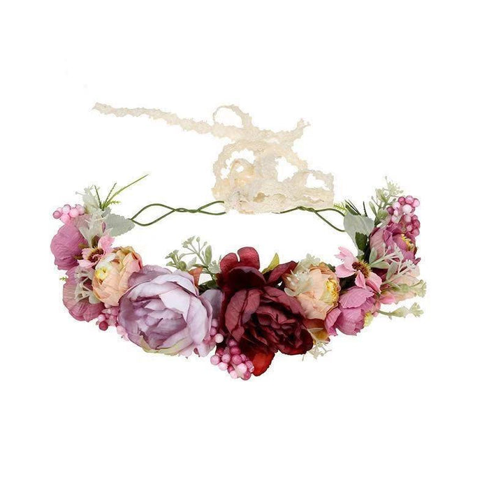 Luxe Floral Crown - Sienna