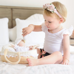 Bonikka Grace Doll, Carry Cot and Blanket - Tutu Irresistible Boutique