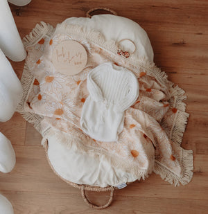 Ziggy Lou Double Gauze Swaddle - Daisy - Tutu Irresistible Boutique