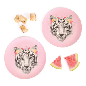 Floral Tiger - 2pk Bamboo Large Plates - Tutu Irresistible Boutique