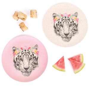Large Plates 2pk - Tiger - Tutu Irresistible Boutique