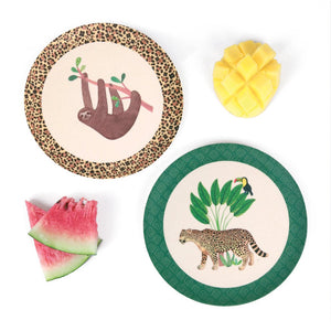 Sloth & Jaguar Plates - 4pk Small - Tutu Irresistible Boutique