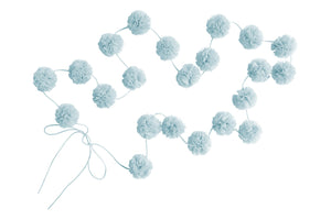 Mini Pom Pom Garlands - Light Blue
