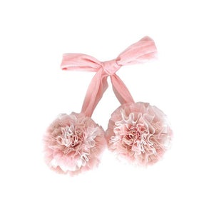 Marbled Pom Pom Garland - Champagne, Pink & White - Tutu Irresistible Boutique