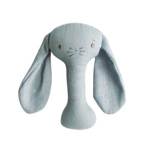 Bobby Bunny Stick Rattle - Grey Linen - Tutu Irresistible Boutique