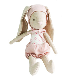 Baby Girl Bunny In Bonnet - 26cms - Tutu Irresistible Boutique