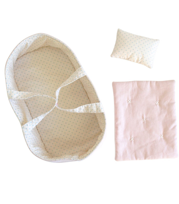Playtime Doll Carrier Set- Pale Pink & Spot
