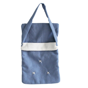 Baby Doll Carry Bag - Chambray Linen - Tutu Irresistible Boutique