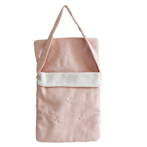 Baby Doll Carry Bag - Pink Linen - Tutu Irresistible Boutique