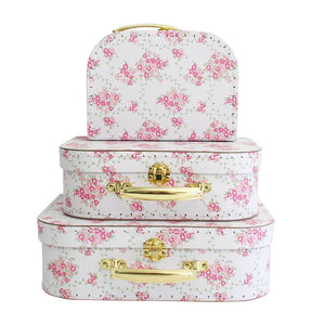 Alimrose Suitcase Set - Floral Wreath White