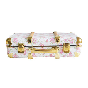 Alimrose Mini Vintage Style Carry Case - Floral Wreath White