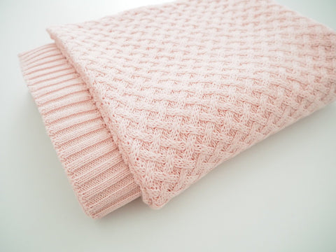 Diamond Knit Blanket - Pink