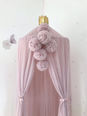 Pom Pom Garland - Pale Rose - Tutu Irresistible Boutique