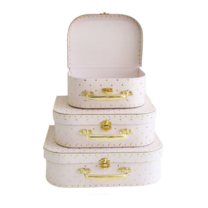 Alimrose Suitcase Set - Pink & Gold - Tutu Irresistible Boutique