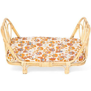 Rattan Dolls Day Bed - Flowers - Tutu Irresistible Boutique