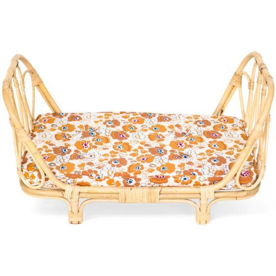Rattan Dolls Day Bed - Flowers