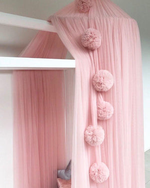 Pom Pom Garland - Light Pink - Tutu Irresistible Boutique