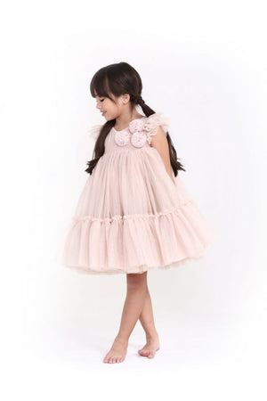 Spinkiewear Le Pom Pom Tutu Dress - Champagne - Tutu Irresistible Boutique