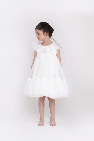 Spinkiewear Le Pom Pom Tutu Dress - White - Tutu Irresistible Boutique