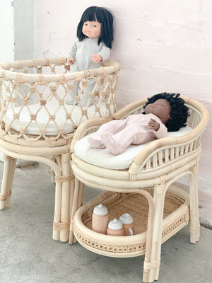 Rattan Dolls Change Table - Tutu Irresistible Boutique
