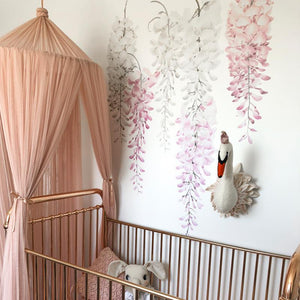 Pink Wisteria Wall Decals - Full Pack