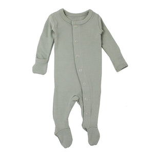 L'oved Baby Organic Footie - Seafoam - Tutu Irresistible Boutique