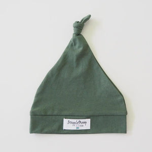 Knotted Beanie - Olive - Tutu Irresistible Boutique