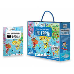 Sassi Travel, Learn & Explore - Puzzle & Book Set | The Earth - Tutu Irresistible Boutique