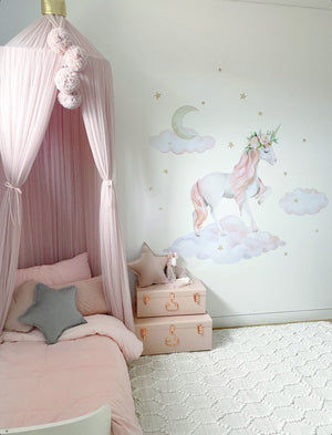 Dreaming Unicorn Wall Decal - Tutu Irresistible Boutique