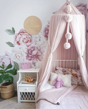 Classic Peony & Rose Wall Decals - Tutu Irresistible Boutique