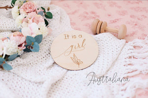 Single Announcement Disc - It's A Girl - Tutu Irresistible Boutique