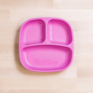 Re-Play Divided Plate - Bright Pink