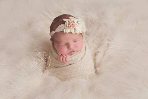 Vintage Lace Newborn Tie Back