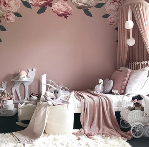 Dusty Peony Wall Decals - Tutu Irresistible Boutique