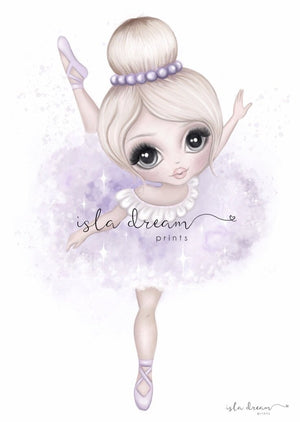 Bella The Ballerina Print - Lilac - Tutu Irresistible Boutique