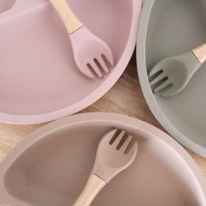 Silicone Suction Plate + Fork - Tutu Irresistible Boutique