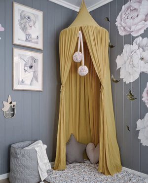 Sheer Canopy - Mustard Yellow - Tutu Irresistible Boutique