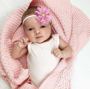 Diamond Knit Blanket - Pink - Tutu Irresistible Boutique