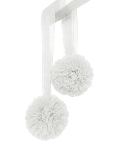 Pom Pom Garland - White - Tutu Irresistible Boutique