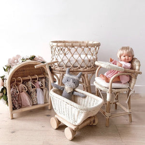 Rattan Toy Wagon - Tutu Irresistible Boutique