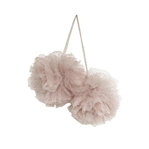 Large Sparkle Pom Pom Garland - Champagne - Tutu Irresistible Boutique