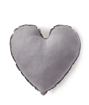 Heart Cushion - Dove Grey 45cms - Tutu Irresistible Boutique
