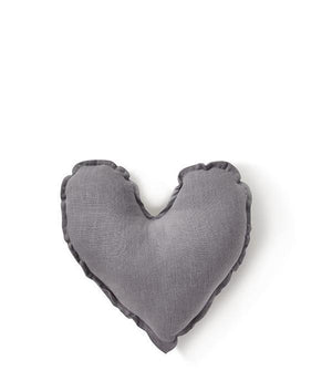 Heart Cushion - Dove Grey 25cms - Tutu Irresistible Boutique