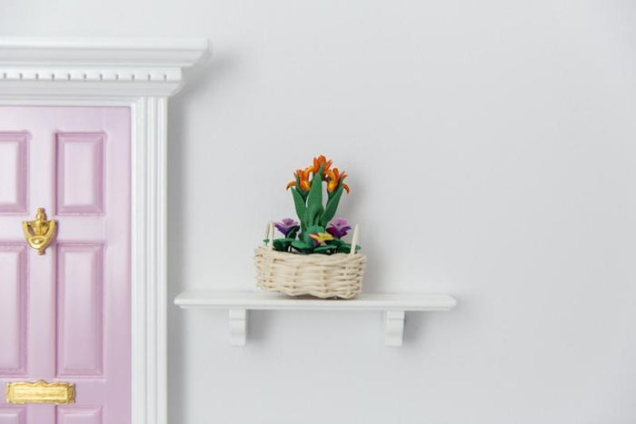 Shelf with Flower Basket