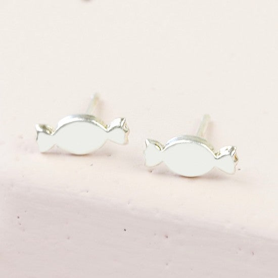Sterling Silver Candy Stud Earrings